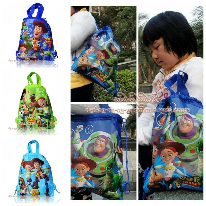 1pcs toy story children drawstring backpacks school