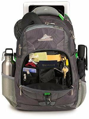 """20"""" Laptop Backpack - Laptops Charcoal Silver"""