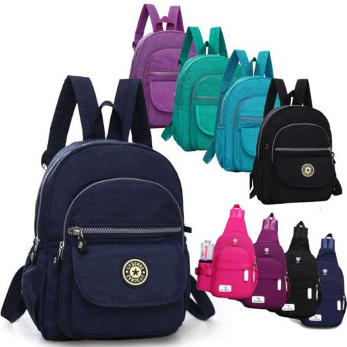 Women Girl Mini Backpack Purse Nylon Small Backpack Shoulder
