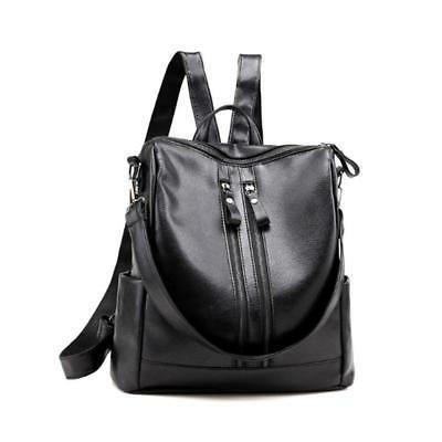 2018 New Women's Backpack Travel PU Leather Handbag Rucksack