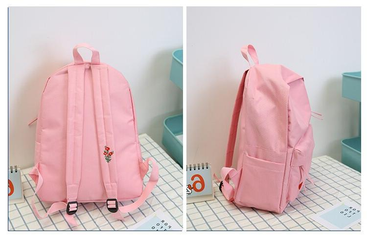 2019 New Korean High School Schoolbag Black Canvas <font><b>Backpack</b></font> for Femininas Bag