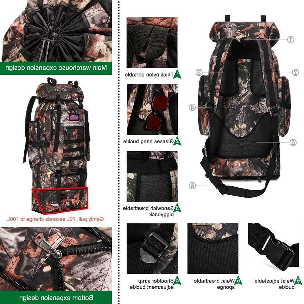 30L/35L/40L/80L Outdoor Military Rucksack Backpacks Camping Bag