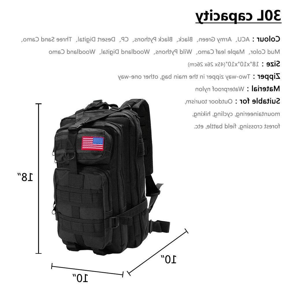 30L/40L/80L Outdoor Military Rucksack Tactical Trek Bag