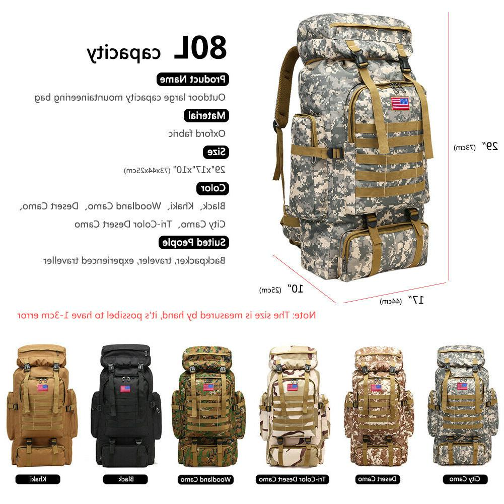 30L/40L/80L Outdoor Tactical Backpacks Camping
