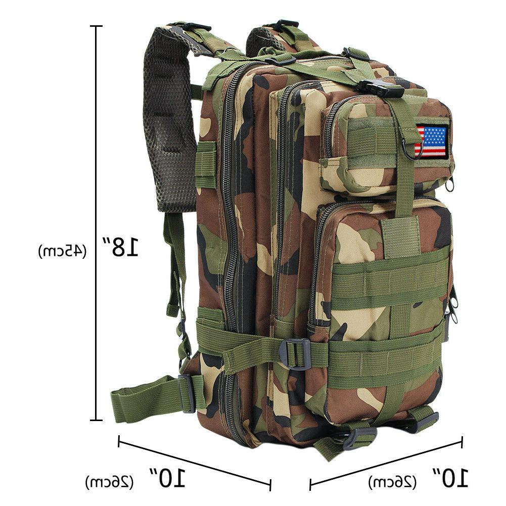 30L Outdoor Military Assault Backpack Shoulders