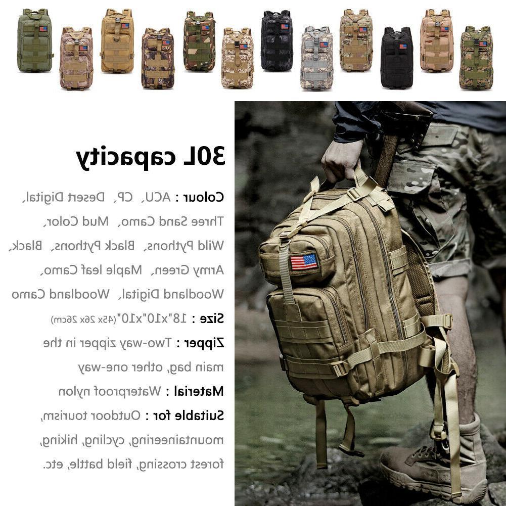 30L Military Assault Waterproof Shoulders