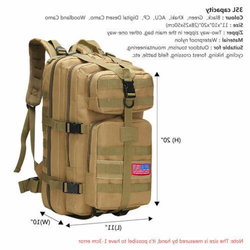 Outdoor Military Backpack Trekking