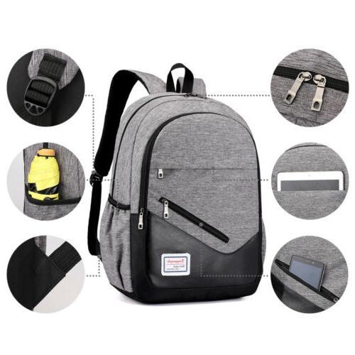 3PCS Men Girls School Bag Travel