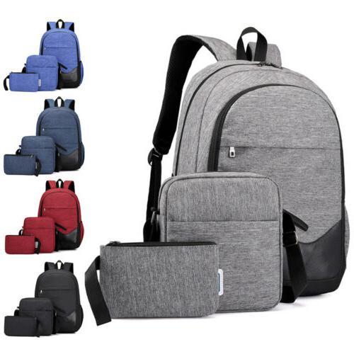 3pcs men women boys girls backpack school