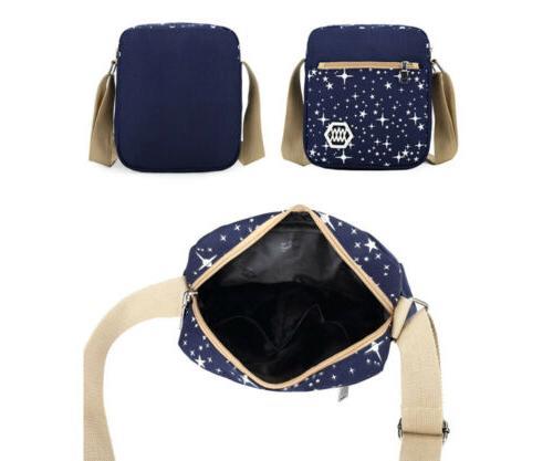 3Pcs/Set Shoulder Backpack Teenage Canvas Bag