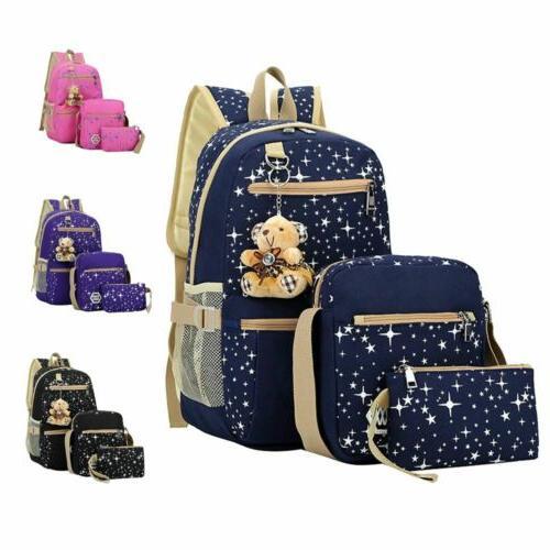 3pcs set girl school shoulder backpack teenage