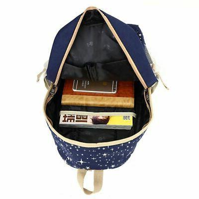 3Pcs Women School Bag Shoulder Bookbag