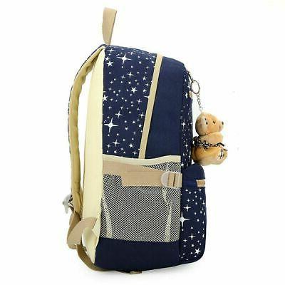 3Pcs Set Girls School Bag Shoulder