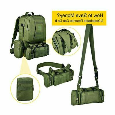 50L Military Rucksacks Tactical Backpack Hiking Trekking Bag