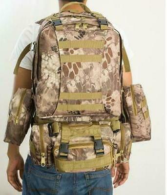 50L 3Pc Outdoor Military Rucksacks Hiking