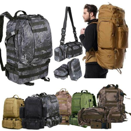 50l 3pc outdoor military rucksacks tactical backpack