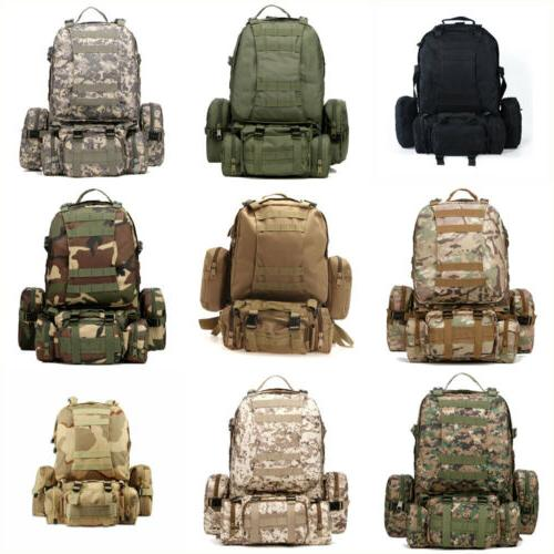 55l 3d molle military tactical backpack rucksack