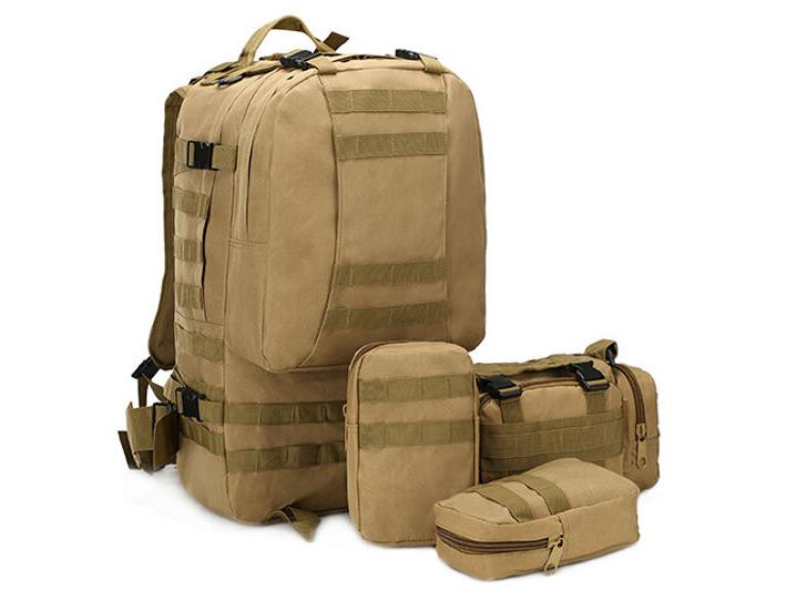 55L Tactical Bag Hiking Trekking Backpack