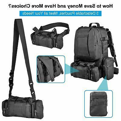 55L Backpack Assault Pack Hiking Rucksack US