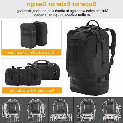 55L Tactical Military Backpack Assault Pack Outdoor Hiking