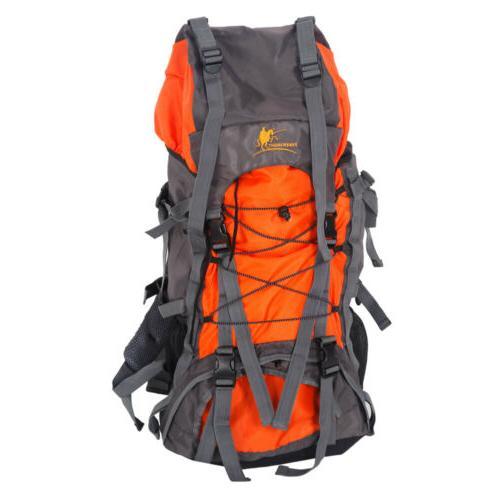 60L Outdoor Backpack Hiking Bag Camping Travel Waterproof Mo
