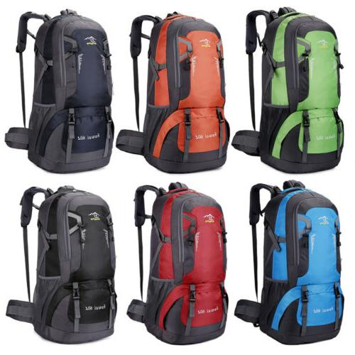 60l outdoor camping backpack rucksack travel climbing
