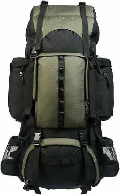 AmazonBasics Internal Frame Hiking Backpack with Rainfly 75