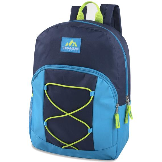 Case of 17 Inch Backpacks with Bungee Colors