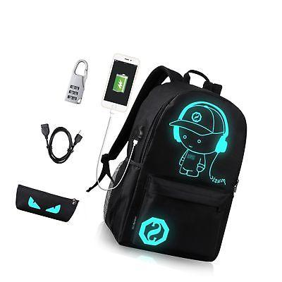GAOAG College Laptop Backpack with USB Charging Port and Loc