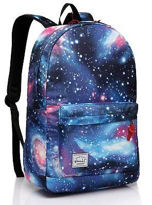 Galaxy backpack,Vaschy Lightweight College School Backpack f