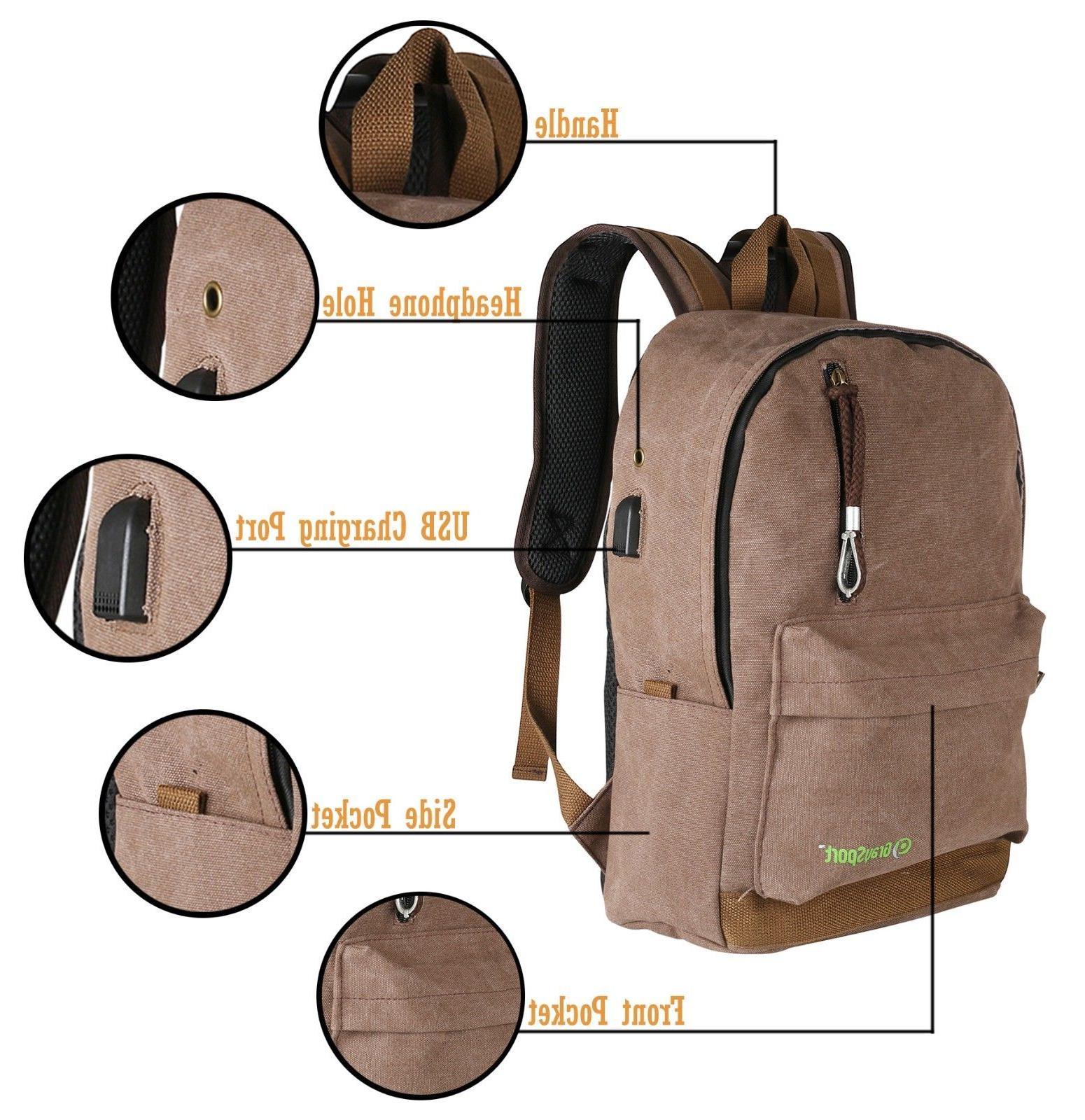 Heavy Duty Canvas Backpack Lightweight Designer