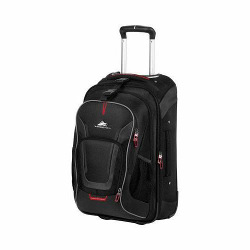 High Sierra Unisex  AT7 Carry-on Wheeled Backpack Black Size
