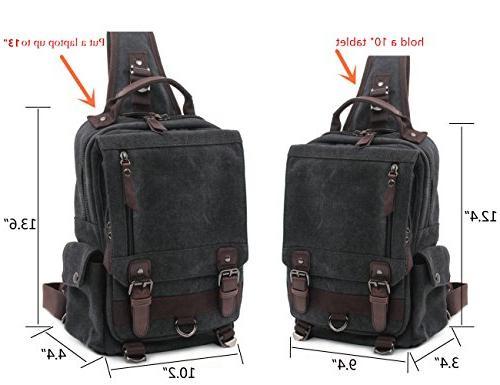 Leaper Canvas Messenger Sling Bag Bag M