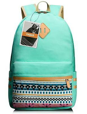Leaper Casual Lightweight Canvas Laptop Bag Cute School Back