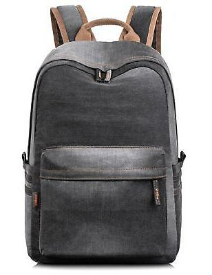 Leaper Classic Denim Laptop Backpack School Bag Daypack Hand