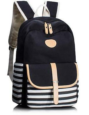 Leaper Cute Thickened Canvas School Backpack Laptop Bag Shou