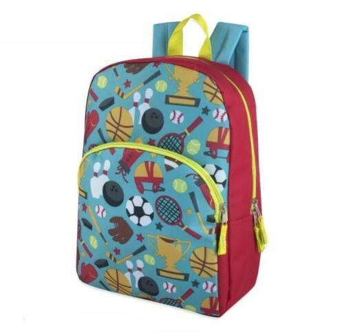 Lot 24 Wholesale 15 Backpacks for Boys Different Patterns