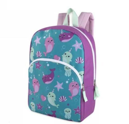 Lot 24 15 Character Backpacks for Girls Print