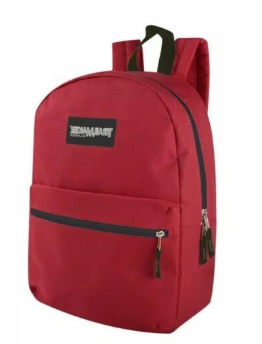 Lot 24 Wholesale Trailmaker Classic Inch Backpacks Assorted Colors