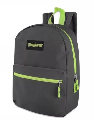 Lot of 24 Trailmaker Classic 17 Inch Backpacks 12 Colors