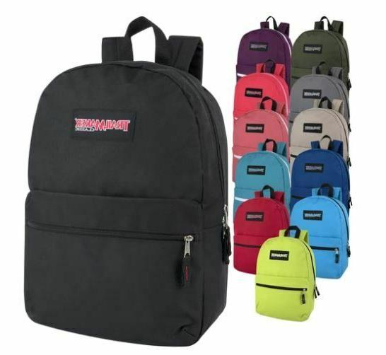 Lot of 24 Wholesale Trailmaker Classic 17 Inch Backpacks in