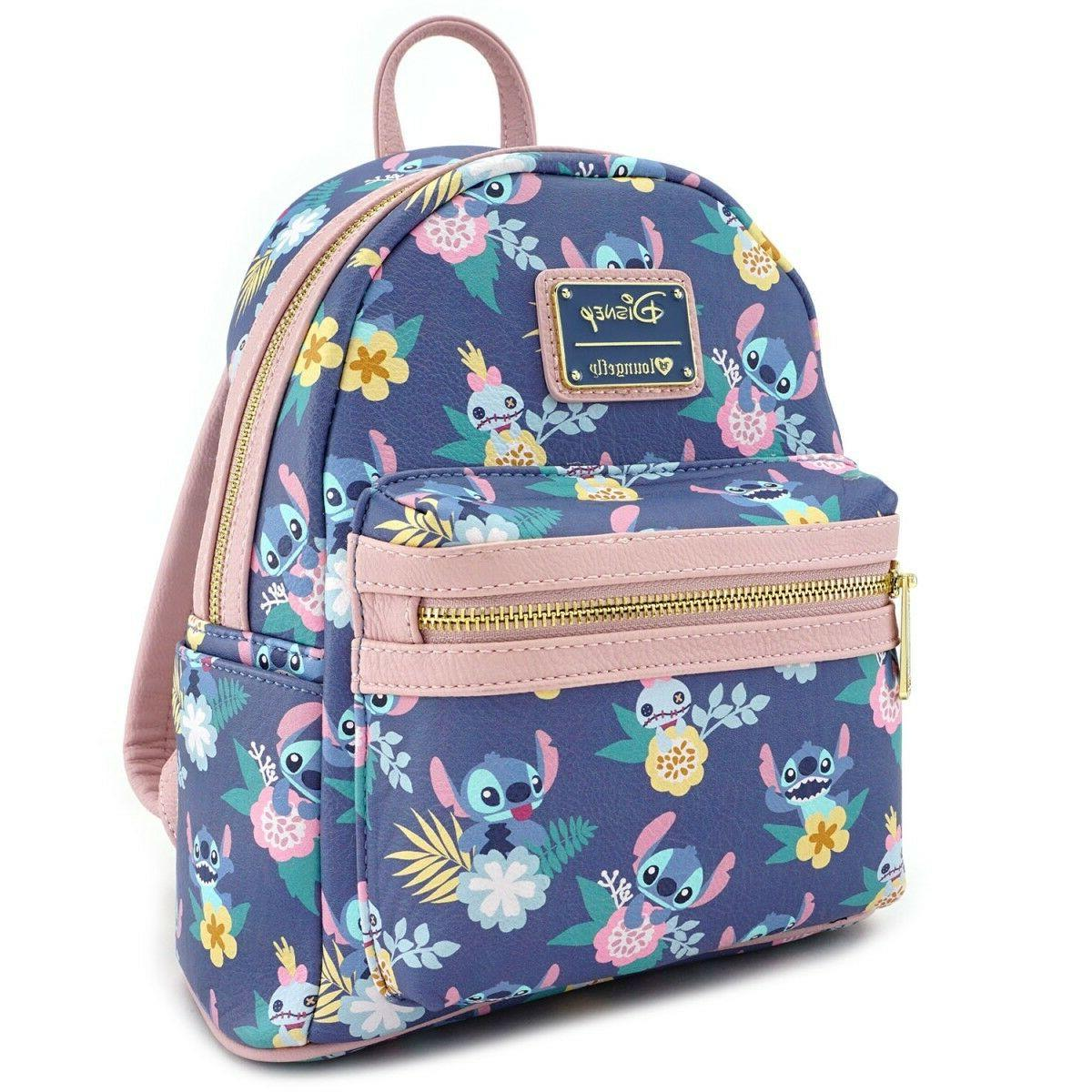 Loungefly Disney Stitch Floral Faux Leather