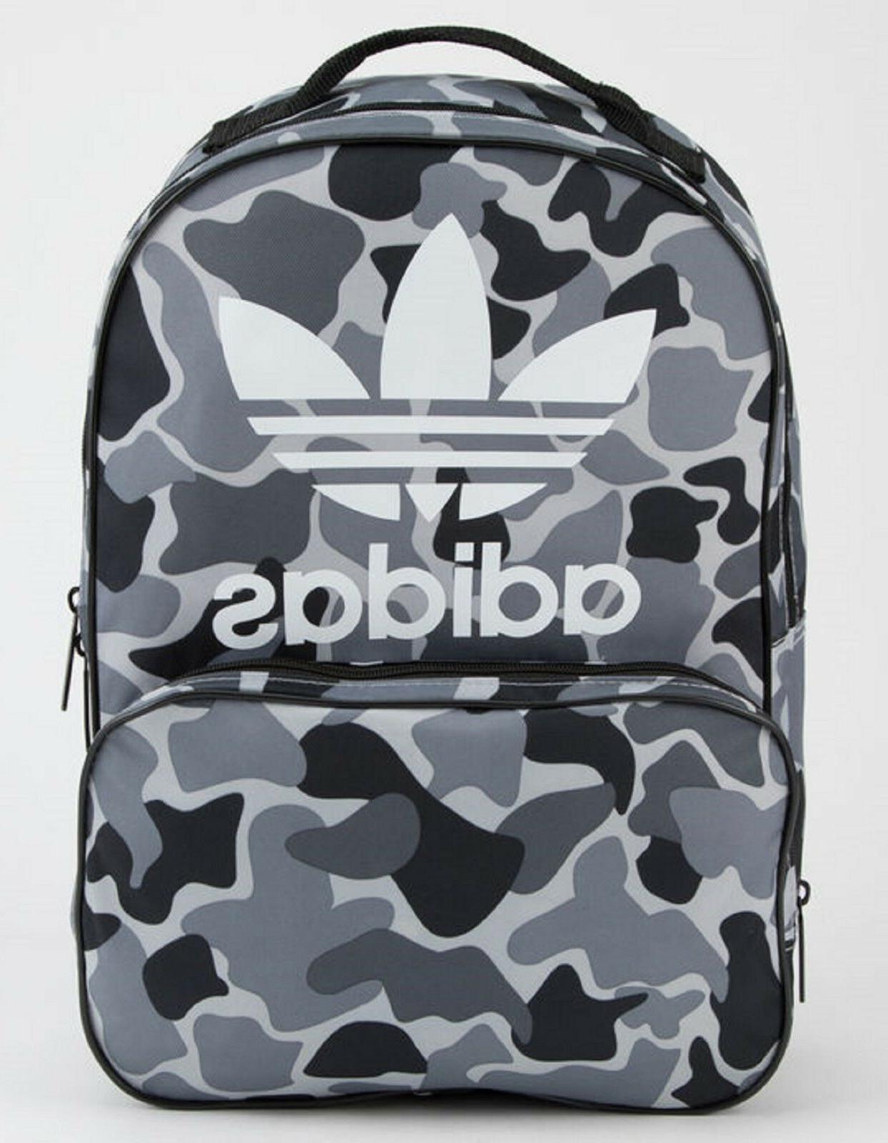 NEW ADIDAS ORIGINALS TREFOIL SANTIAGO CAMO BACKPACK BAG  #CJ