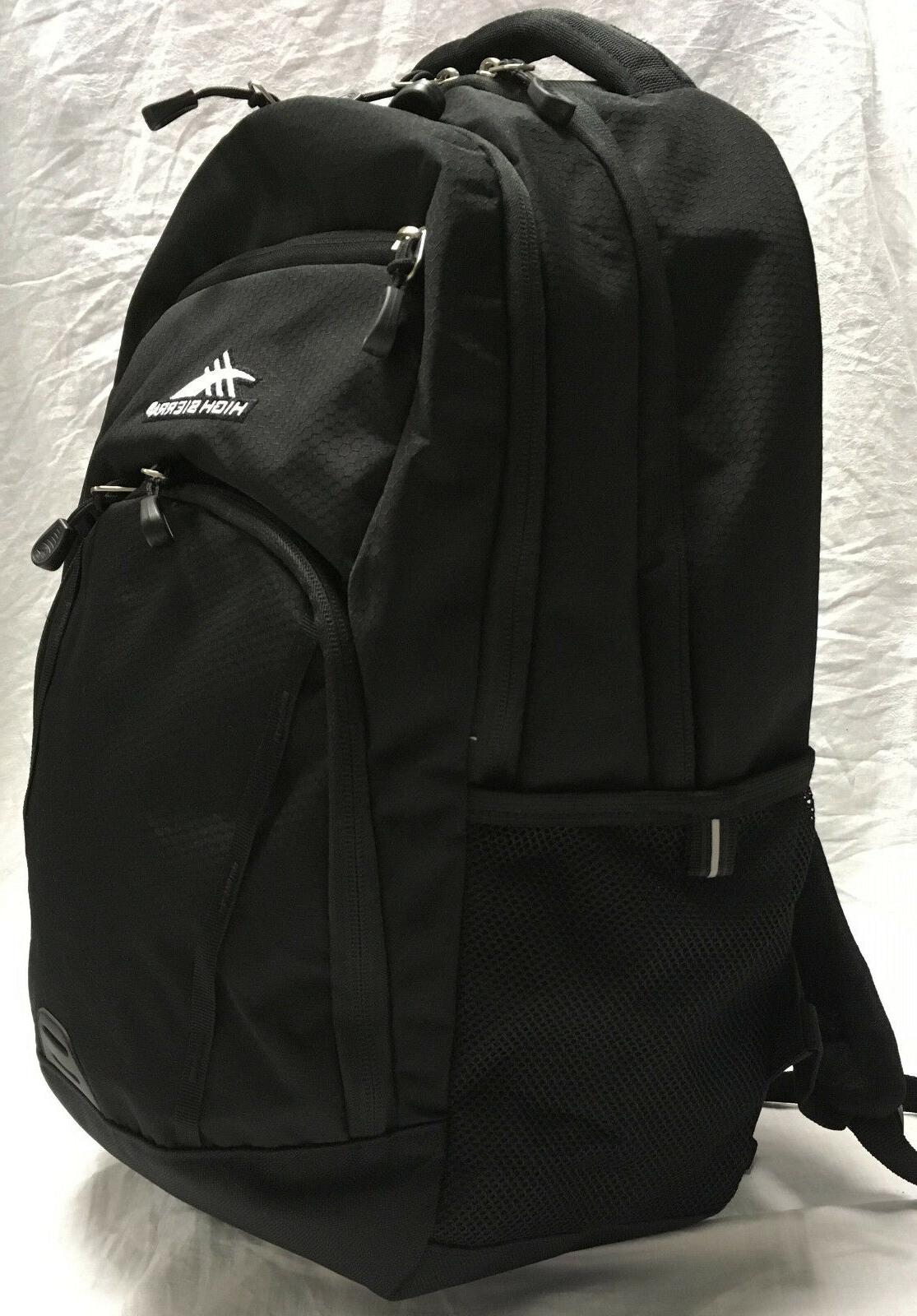 NEW High Sierra Laptop Backpack Everyday RIPRAP Black Organi