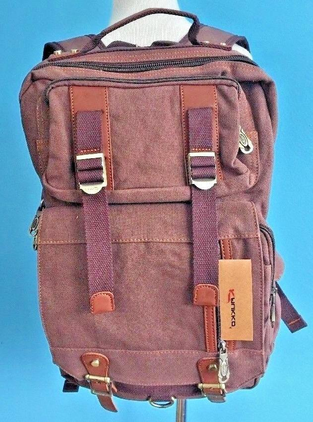 NEW KAUKKO Outdoor Travel Men Backpack, Hiking Camping Canva