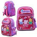 "Peppa Pig Backpack 16"" Large School Backpack Girl's Book Bag"