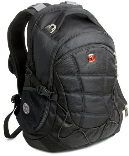 Swiss Gear SA9769 Black Laptop Backpack - Fits Most 15 Inch