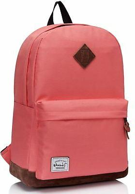 Vaschy School Backpack for Teens with 14 inch Laptop Compart