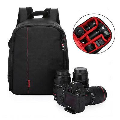 Waterproof Little DSLR Camera Backpack Shoulder Bag Case For