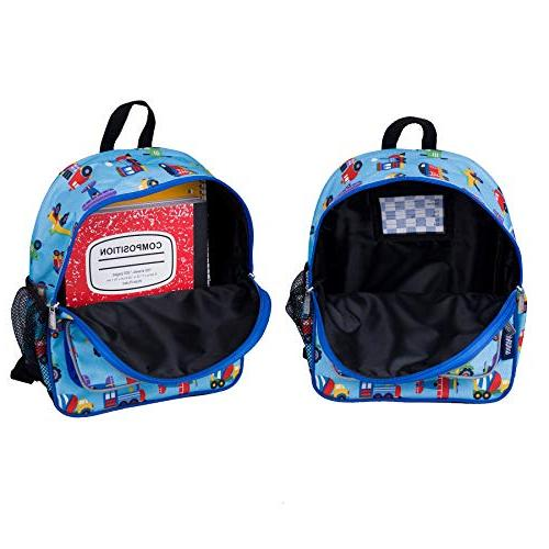Wildkin Backpack, Includes Pocket and Water Bottle Perfect for Preschool, Day Trips, Trucks